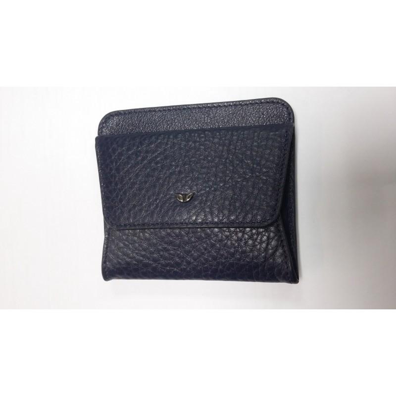 Монетница TERGAN синяя с кредитницей из натуральной кожи   - фото 1